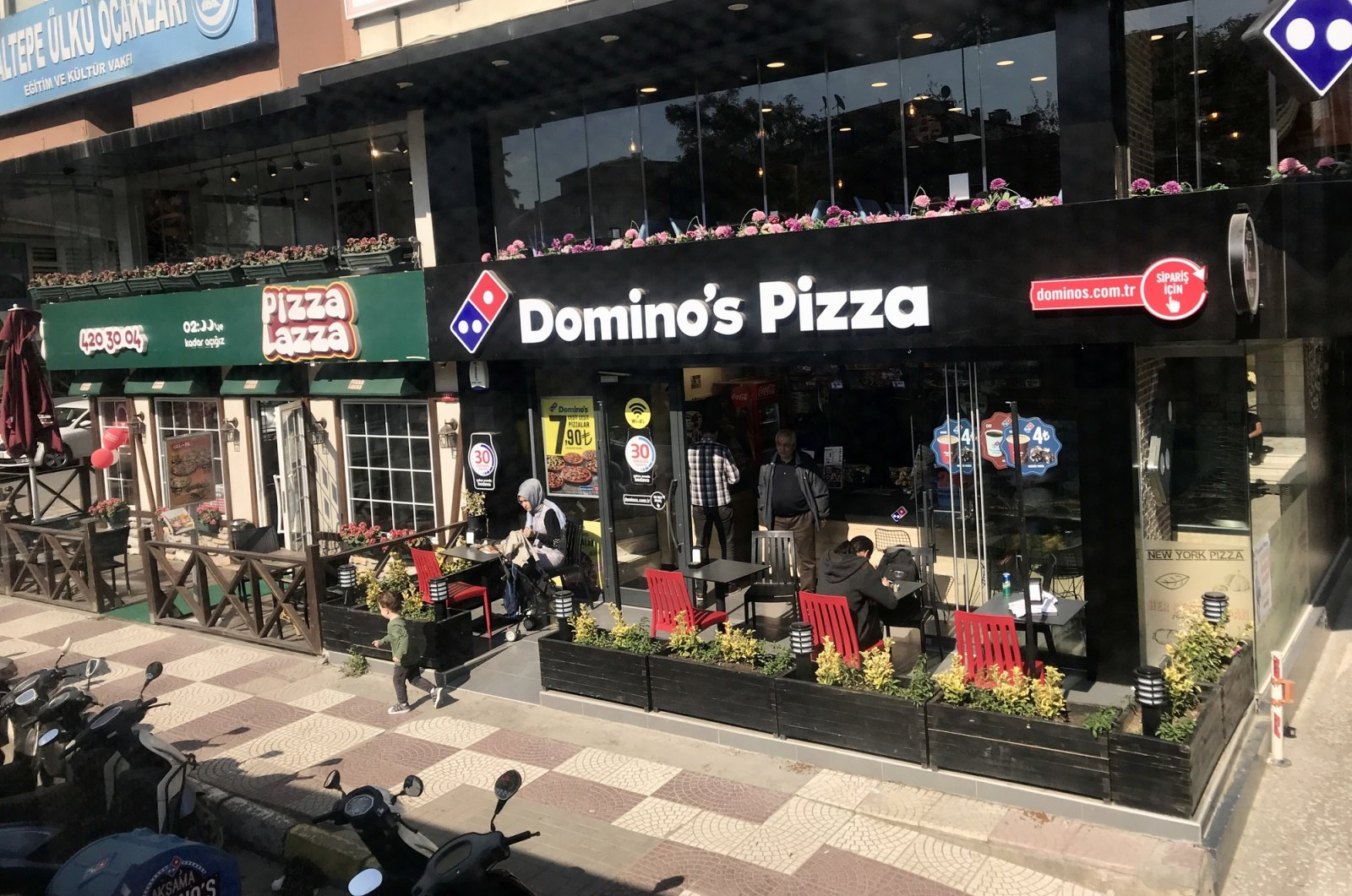 A branch of Domino's Pizza, run by DP Eurasia, is seen in the Maltepe district of Istanbul, Turkey, Oct. 11, 2017. (iStock Photo)