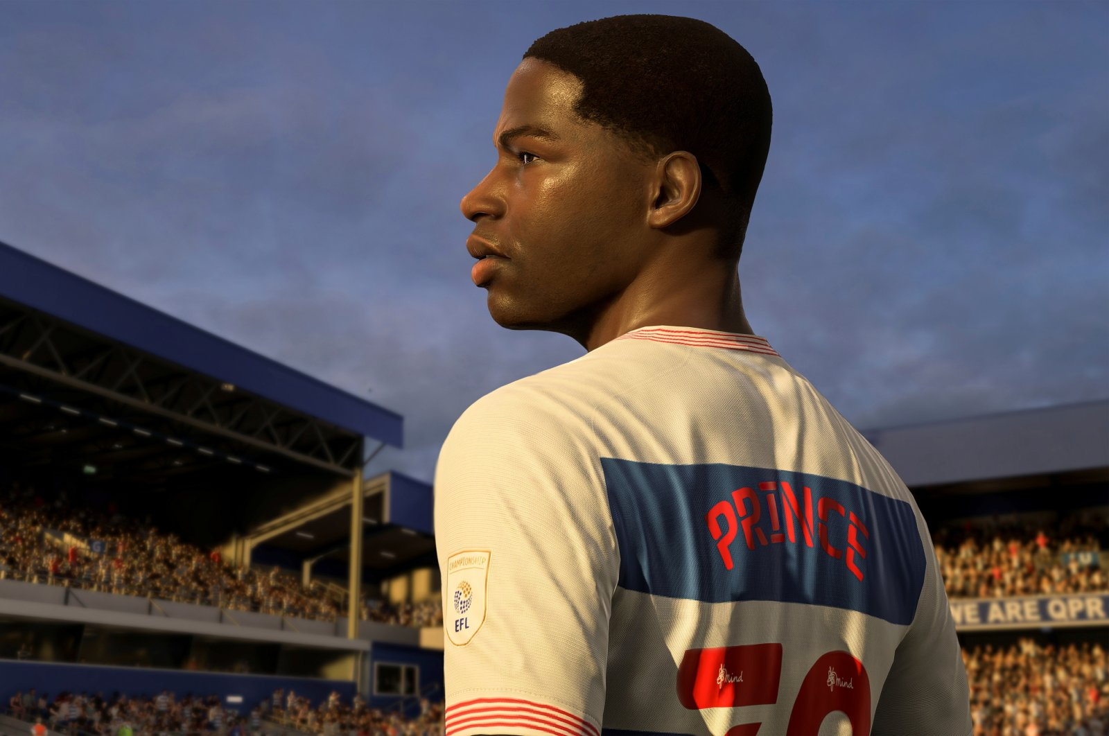 Kiyan Prince is seen in this FIFA21 in-game still. (Courtesy of EA Sports / Handout via Reuters)