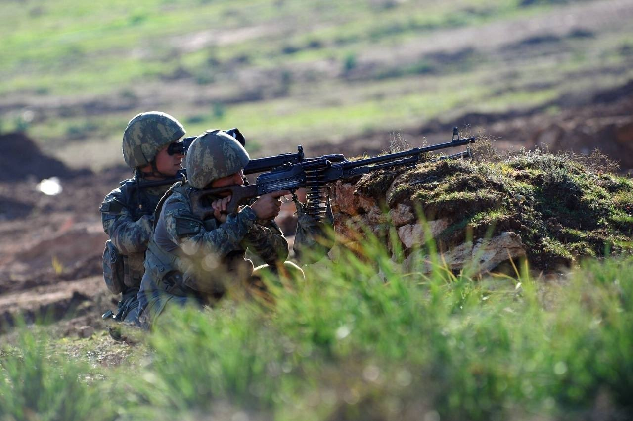 Turkish soldiers are seen during an operation against PKK in southeastern Turkey, May 4, 2021. (DHA Photo)