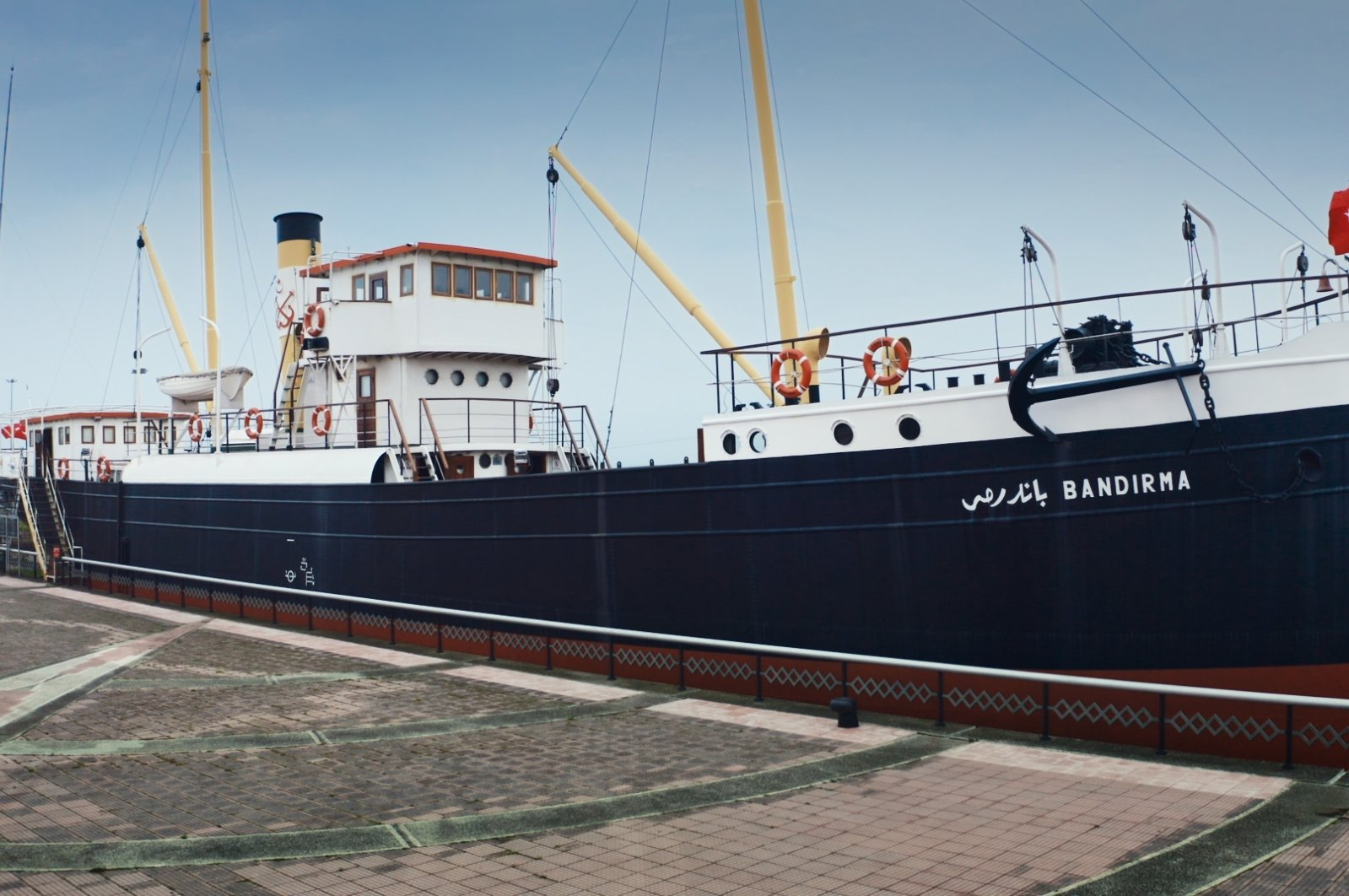 The replica of the historic SS Bandırma, also known as the Bandırma Ferry, which secretly delivered Mustafa Kemal Atatürk to Samsun on May 19, 1919, to start the War of Independence, rests in Samsun, northern Turkey, May 18, 2021. (AA Photo)