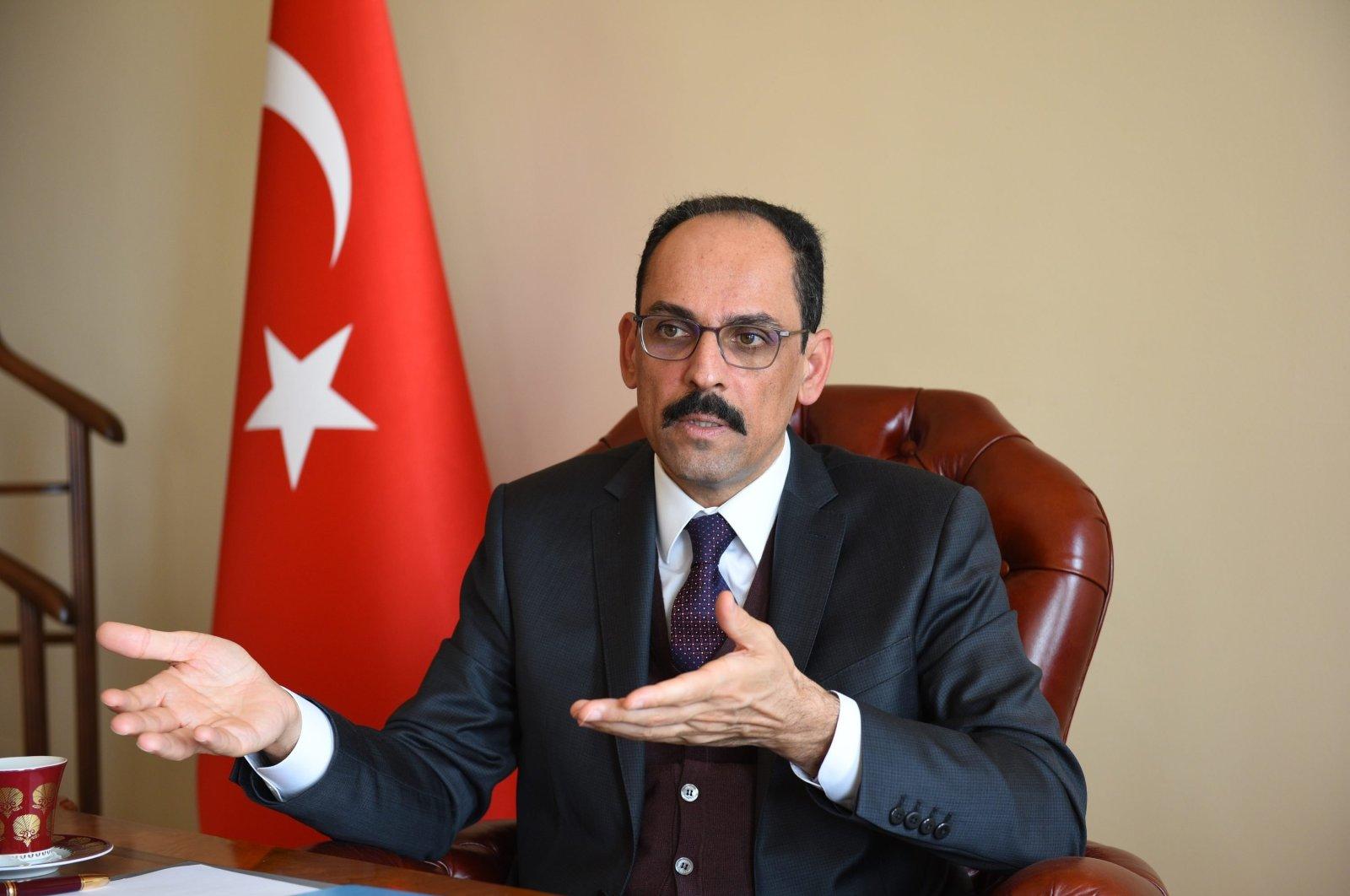 Presidential Spokesperson Ibrahim Kalın speaks during an interview in Ankara, Turkey, March 2, 2021. (Sabah Photo)