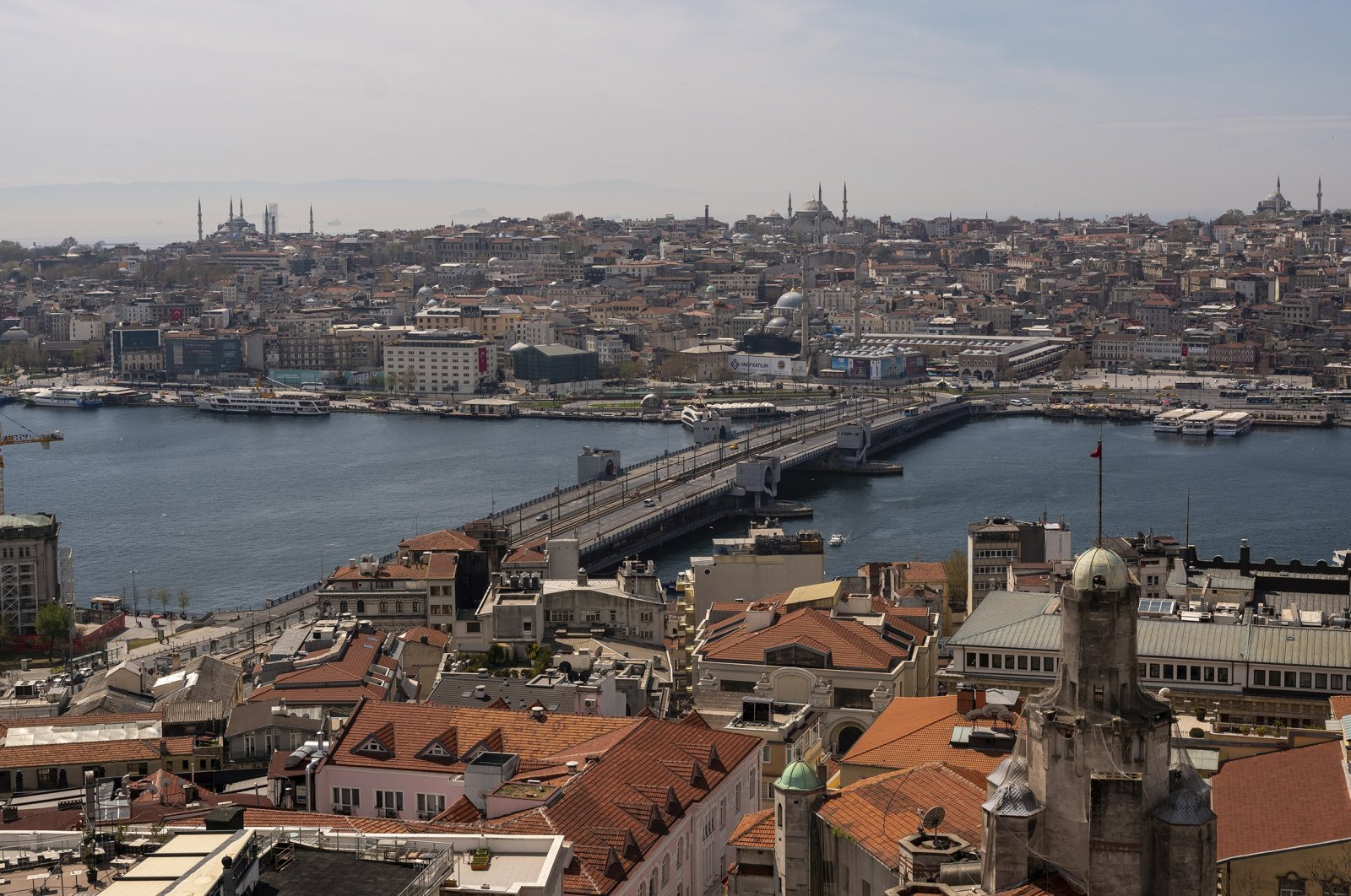 A general view of Istanbul seen from the metropolis' iconic Galata Tower amid the COVID-19 spread, Turkey, April 23, 2021. (Photo by Getty Images)