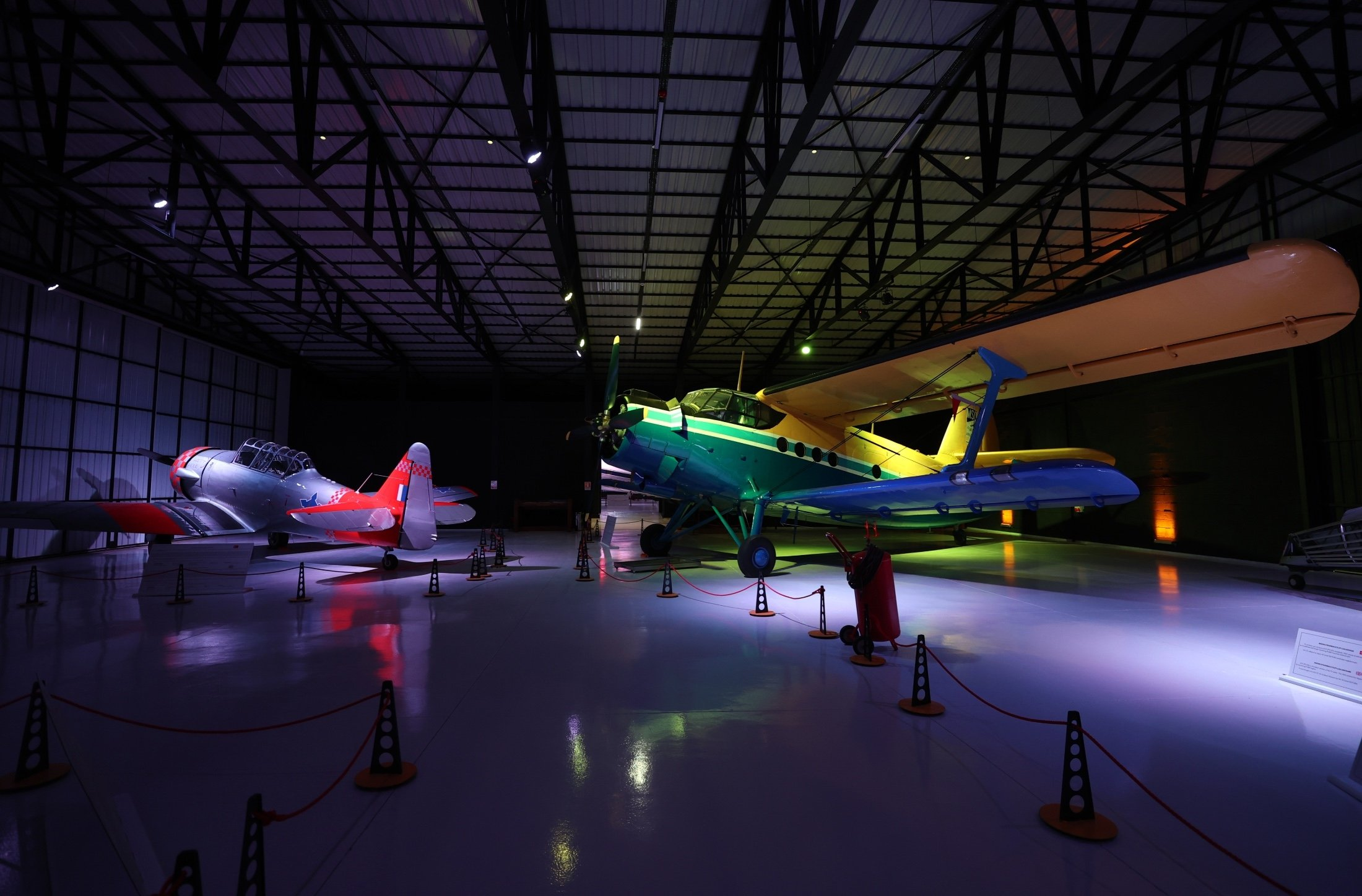 Various historical aircraft, some of which have starred in Hollywood films, are on display at the M.S.Ö. Air and Space Museum in the Sivrihisar district of Eskişehir, Turkey, May 17, 2021. (AA Photo)