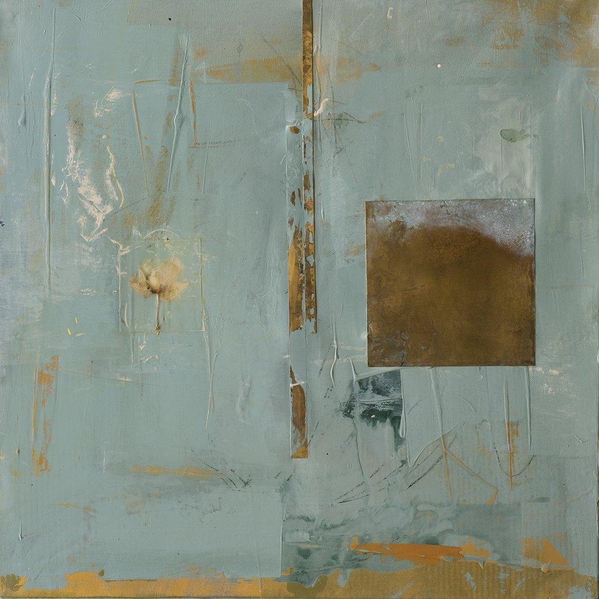 Kirkor Sahakoğlu, untitled, mix media on canvas, 60 by 60 centimeters.