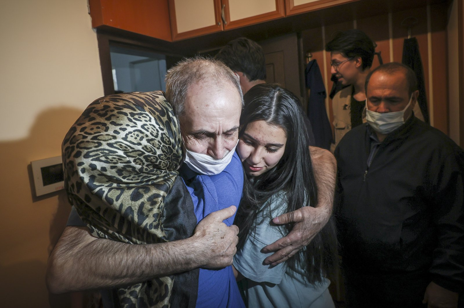 Turkish businessman Vakkas Orhan reunites with his family in the capital Ankara, Turkey, May 19, 2021. (AA Photo)