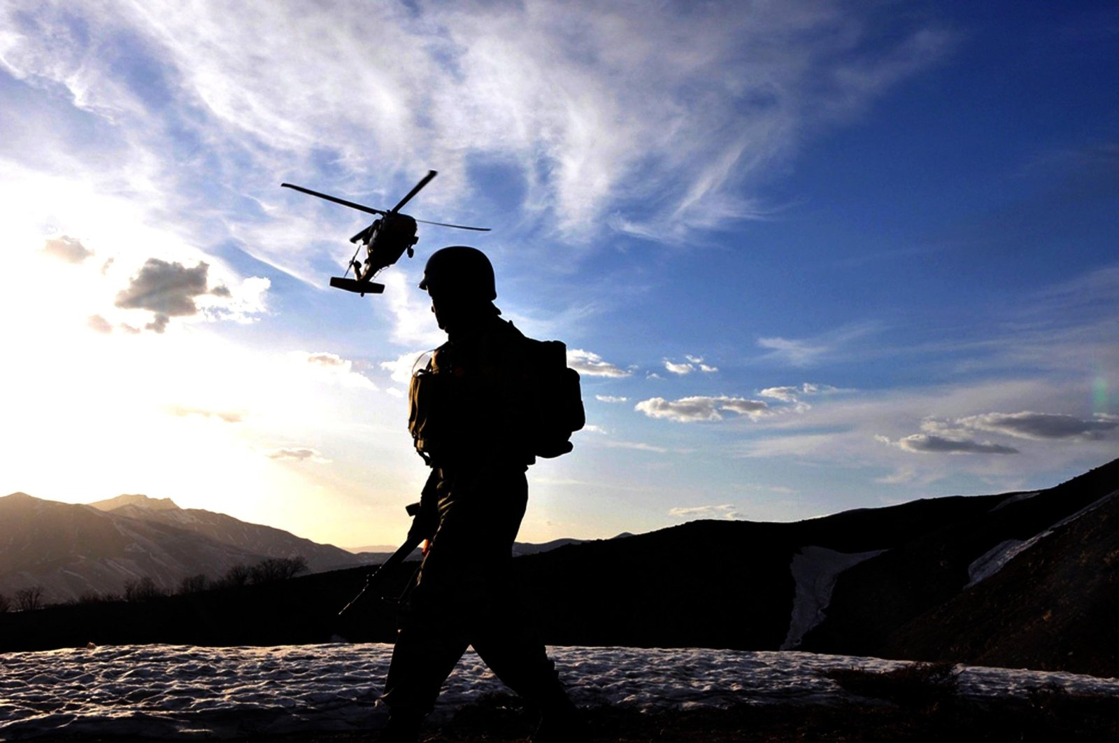 Turkish security forces take part in a counterterrorism operation against PKK terrorists in the Akdağlar area located between Diyarbakır's Lice, Bingöl's Genç and Elazığ's Palu districts, Turkey, April 26, 2019 (AA File Photo)