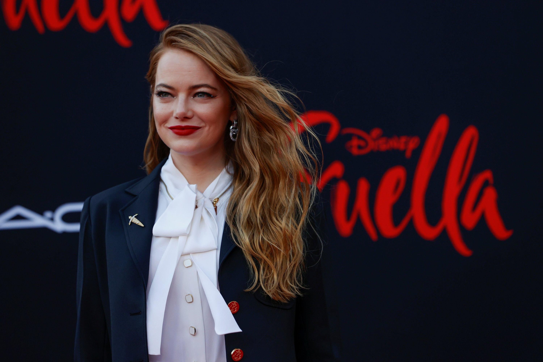 Cast member Emma Stone attends the premiere for the movie 'Cruella' at El Capitan theatre in Los Angeles, California, U.S., May 18, 2021. (REUTERS Photo)