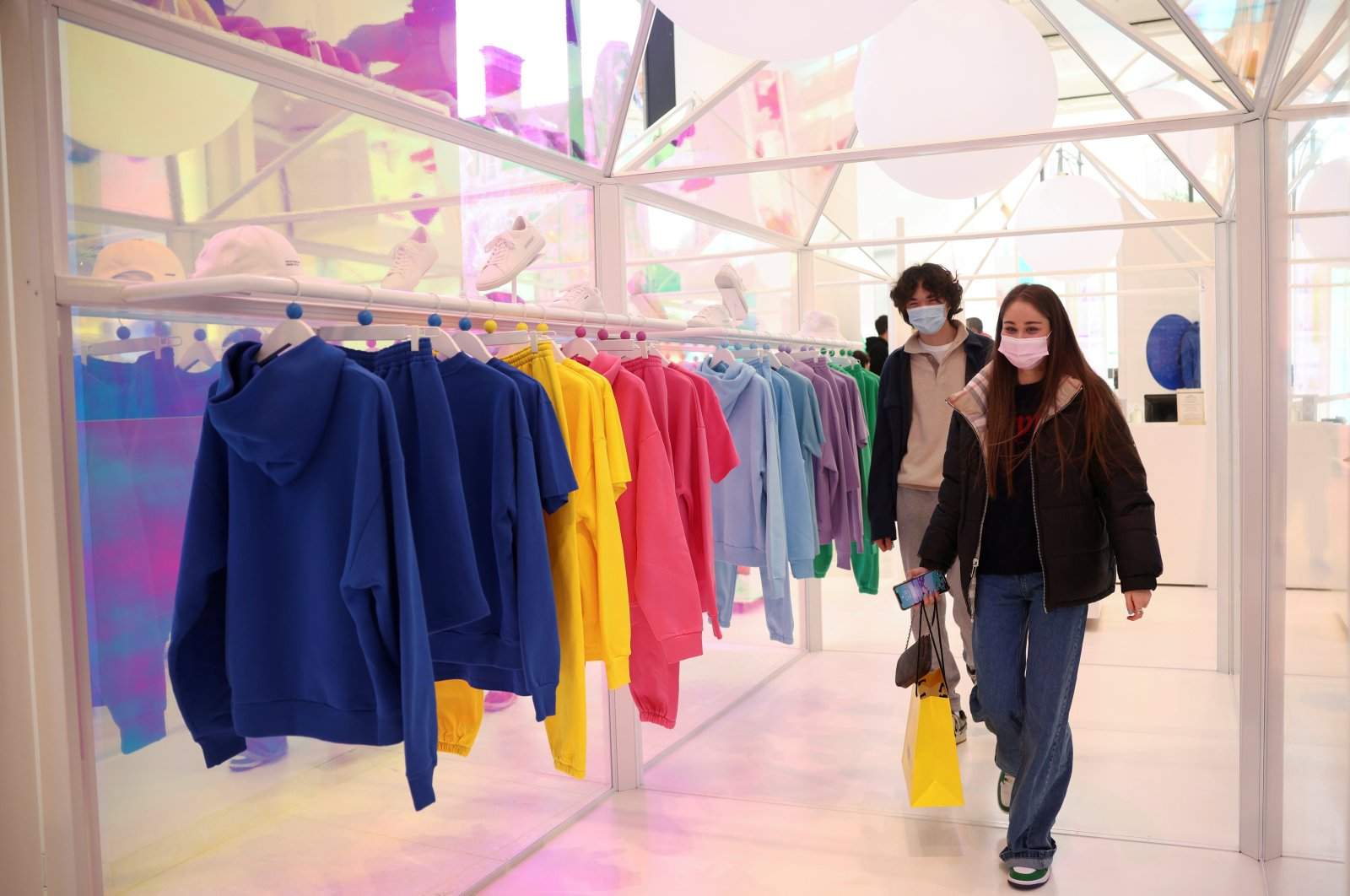 People shop in Selfridges department store on Oxford street, as the coronavirus disease (COVID-19) restrictions ease, in London, Britain, April 12, 2021. (Reuters Photo)