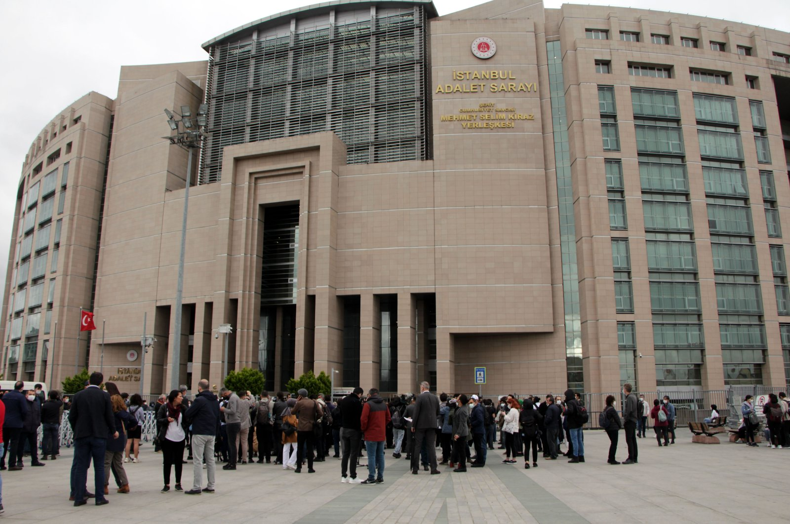 A view outside the court during the Gezi trial in Istanbul, Turkey, May 21, 2021. (DHA Photo)