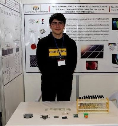 In this photo published on May 21, 2021, Feridun Balaban, a student of the Malatya Science and Arts Center in eastern Turkey who ranked first in the special award category of ISEF, poses near laboratory equipment. (AA Photo)
