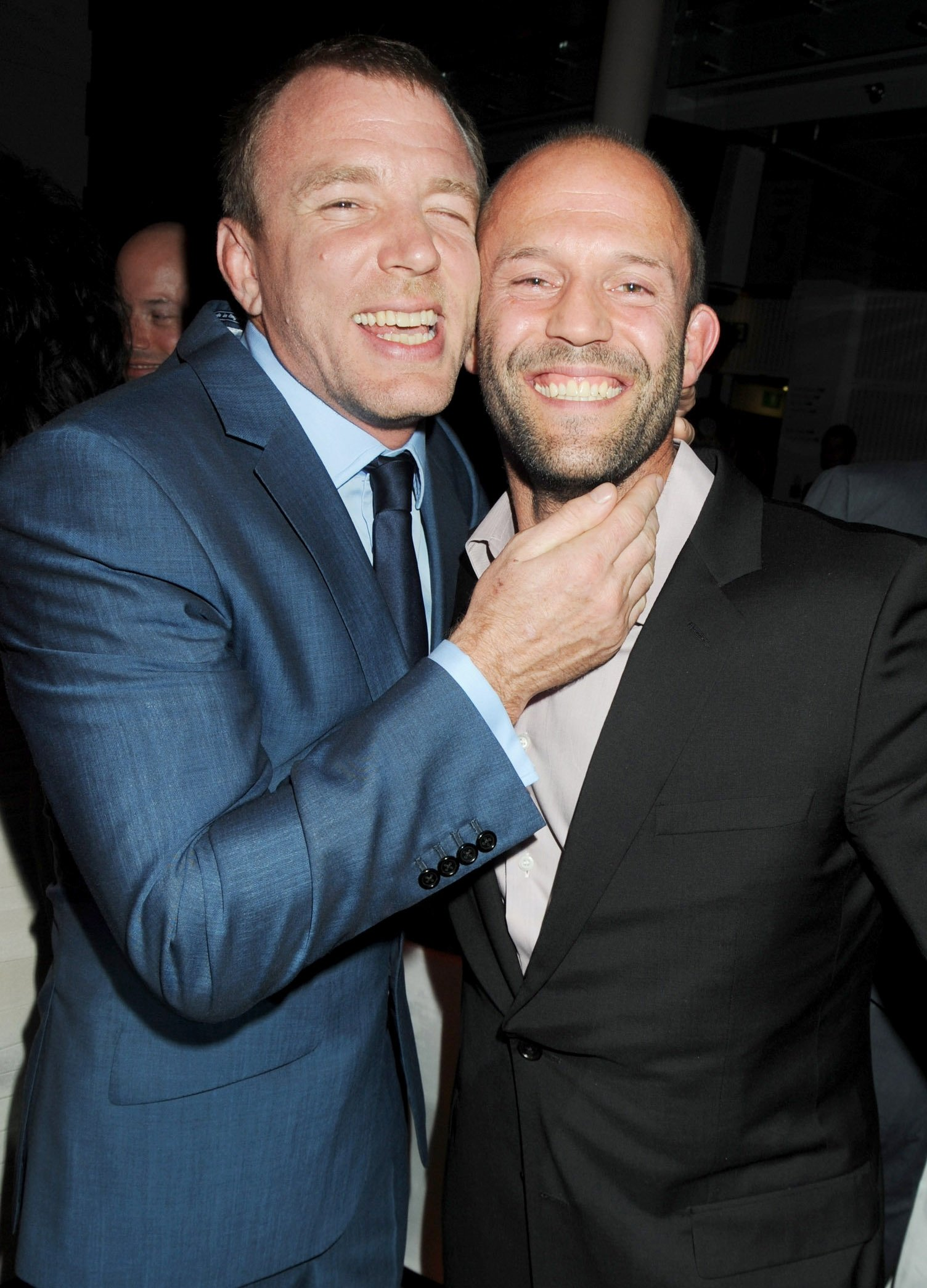 Guy Ritchie and Jason Statham attend the 2009 GQ Men Of The Year Awards at the Royal Opera House, London, England, Sept. 8, 2009.  (Getty Images)