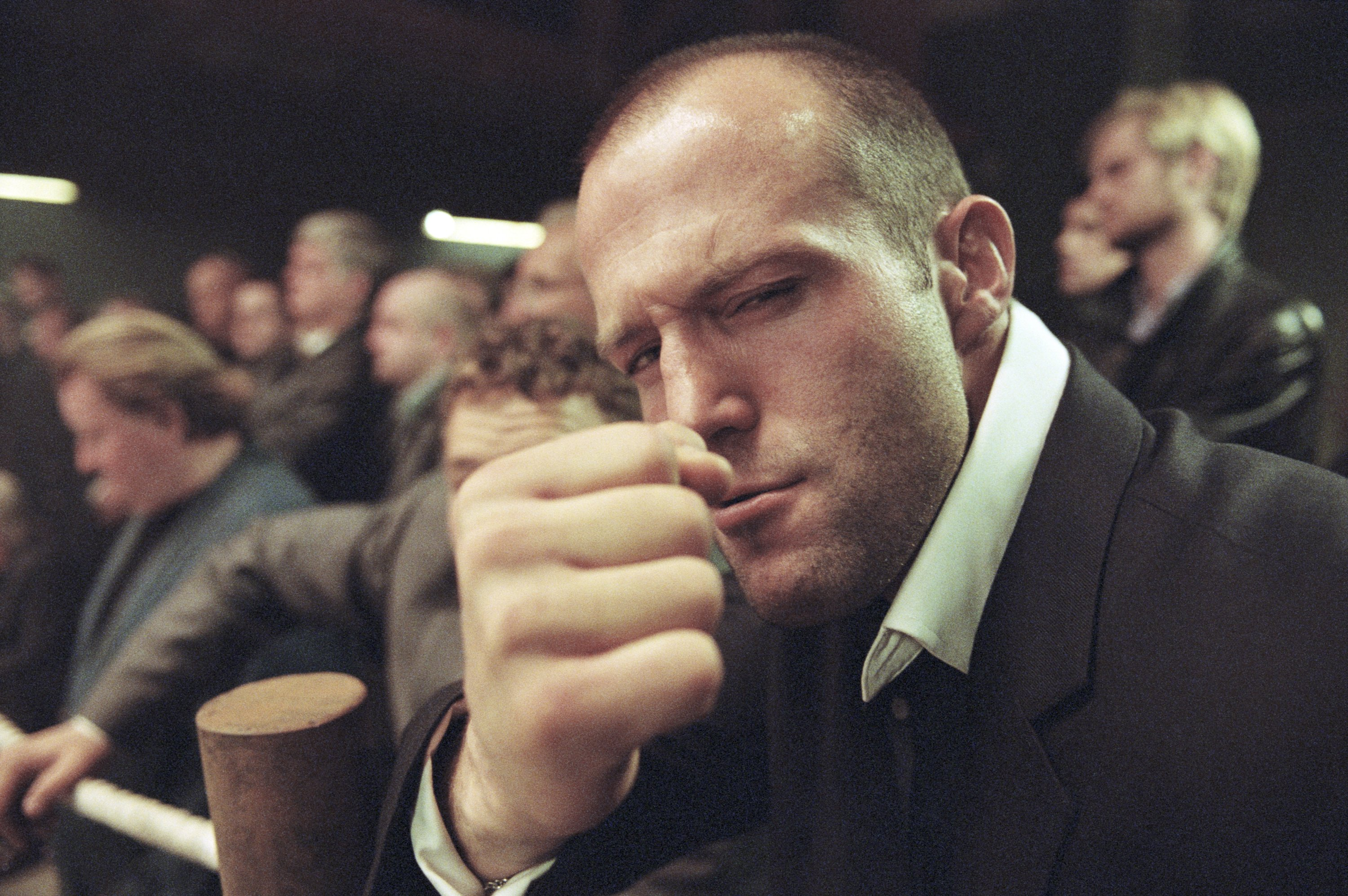 Actor Jason Statham poses on location during the filming of Guy Ritchie's second film 'Snatch,' London, England, Sept. 1, 2000. (Getty Images)
