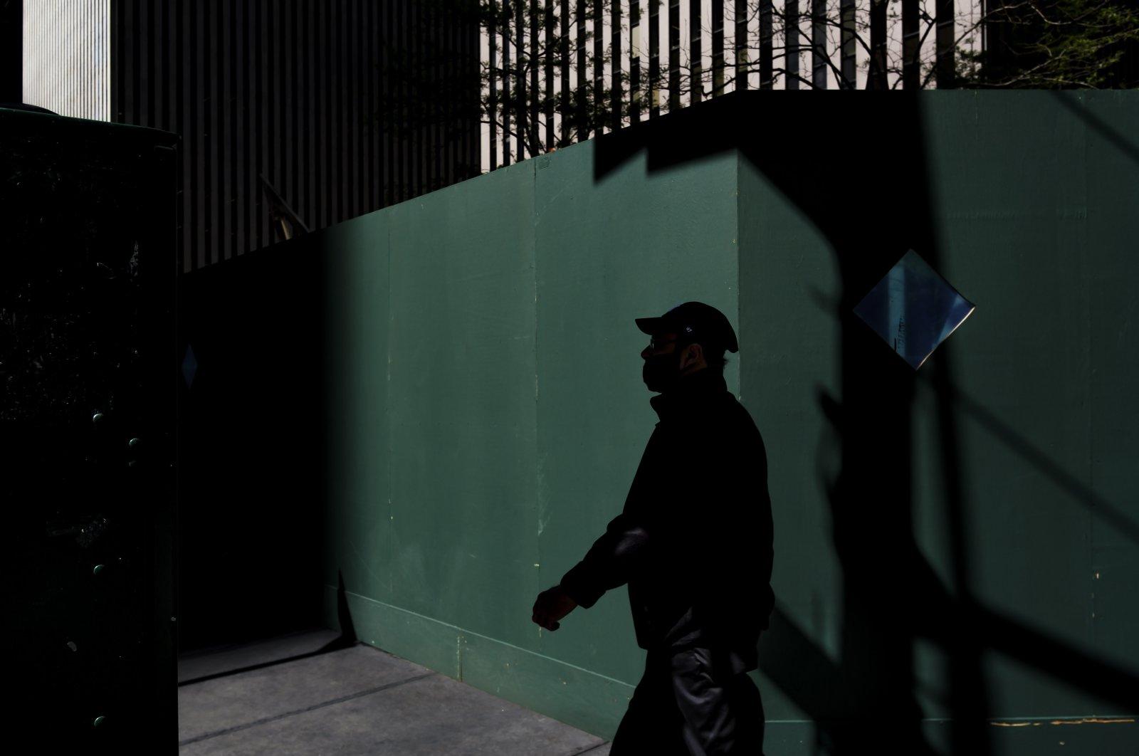 A person walks through midtown New York, New York, U.S., May 6, 2021. (EPA Photo)