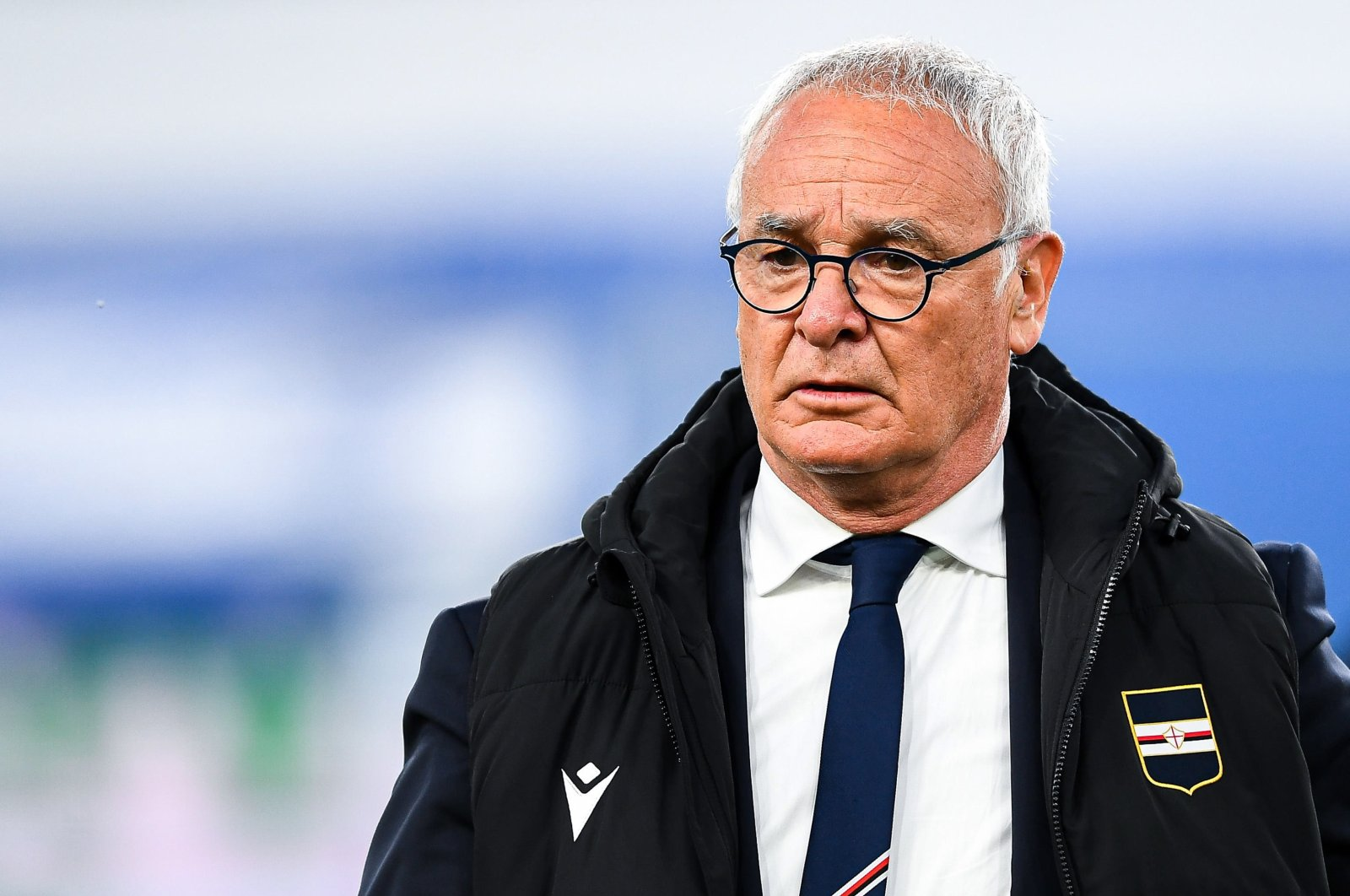 Sampdoria's Italian coach Claudio Ranieri during a match against Parma at Luigi Ferraris stadium, Genoa, Italy, May 22, 2021. (EPA Photo)
