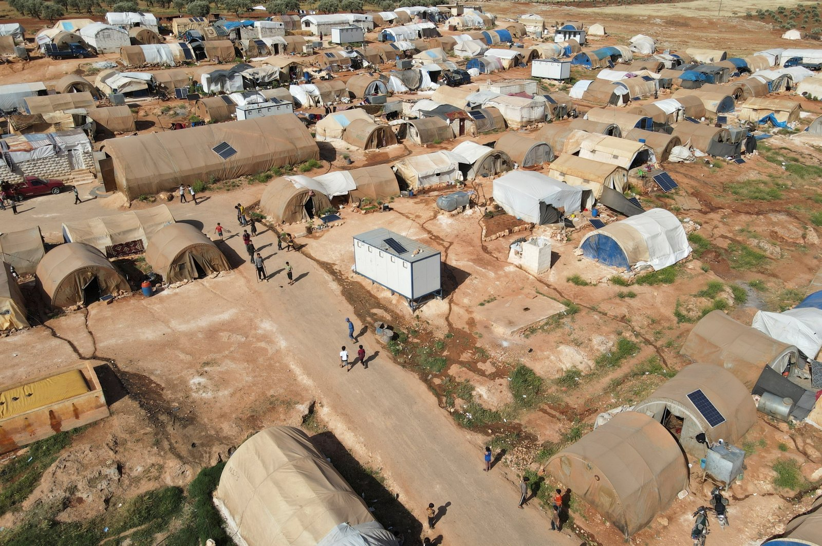 A general view shows a camp for internally displaced Syrians in northern Idlib, Syria, May 5, 2021. (Reuters photo)