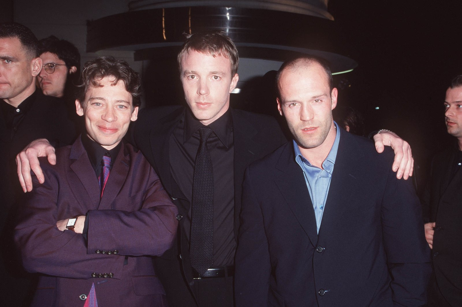 """Dexter Fletcher, Guy Ritchie and Jason Statham during the """"Lock, Stock & Two Smoking Barrels"""" Premiere at Sony Studios in Culver City, California, U.S. (WireImage via Getty Images)"""