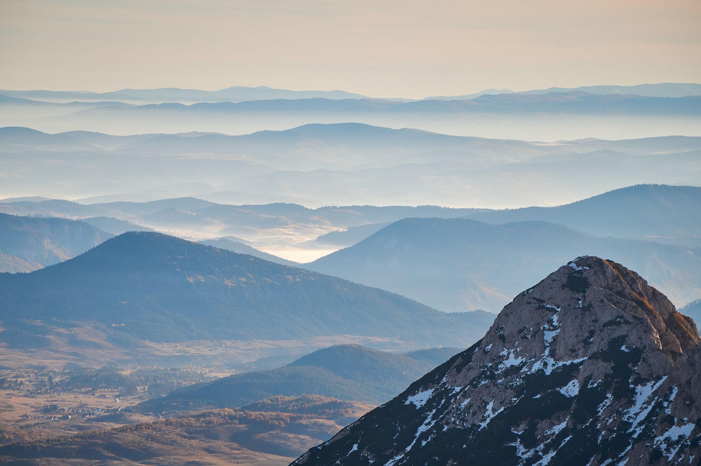 From Bobotov Kuk peak, clouds layer the Durmitor landscape of the Durmitor mountain range, Montenegro. (Shutterstock Photo)