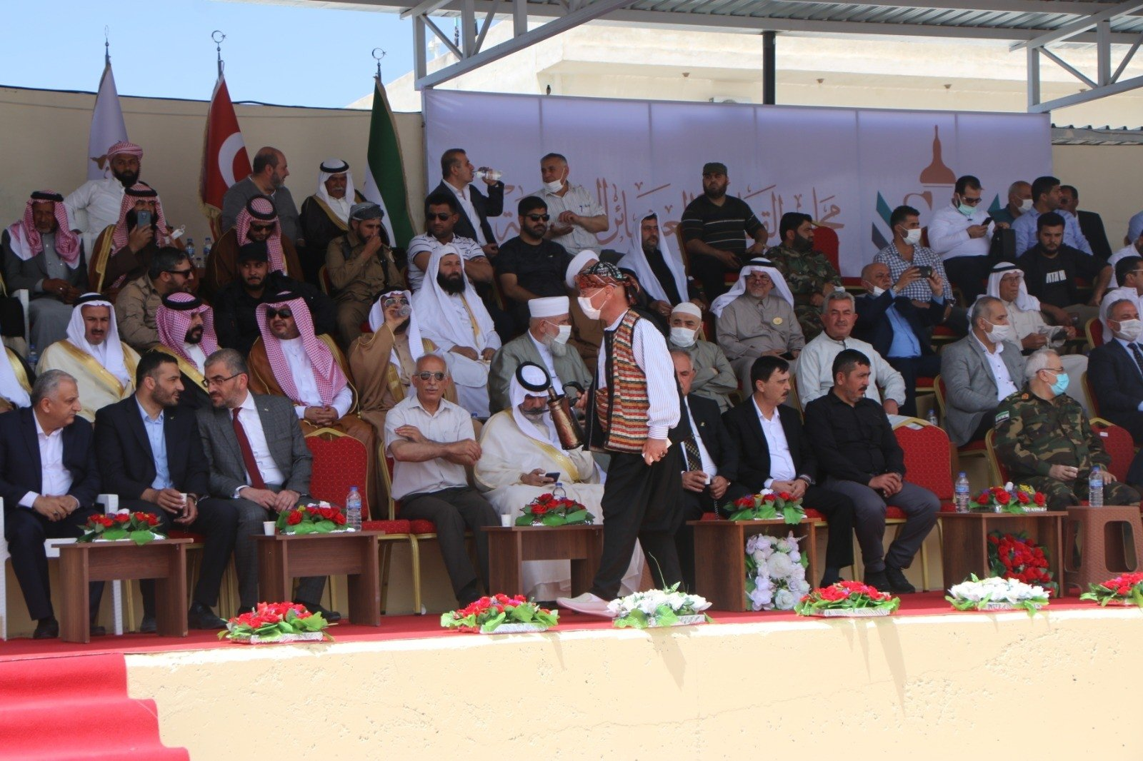 The Syria Clans and Tribes Council (SKAM) holds a meeting in northern Syria's Azaz, May 24, 2021. (IHA Photo)