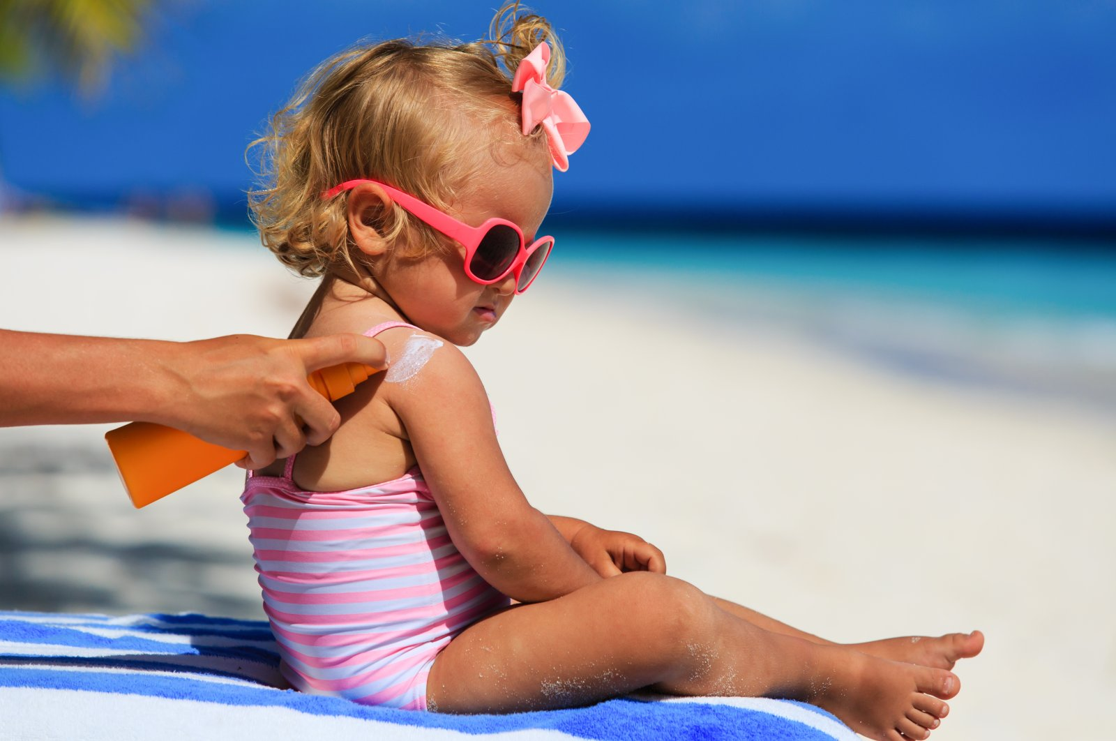 If you have a bottle of sunscreen left over from last summer that's already been opened, you shouldn't use it.  (Shutterstock Photo)