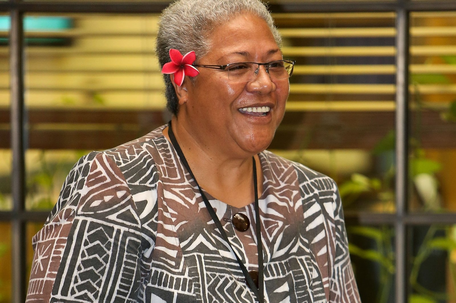 Samoa's Prime Minister-elect Fiame Naomi Mata'afa speaks during the Pacific Parliamentary and Political Leaders Forum at Parliament on April 18, 2013 in Wellington, New Zealand. (Getty Images)