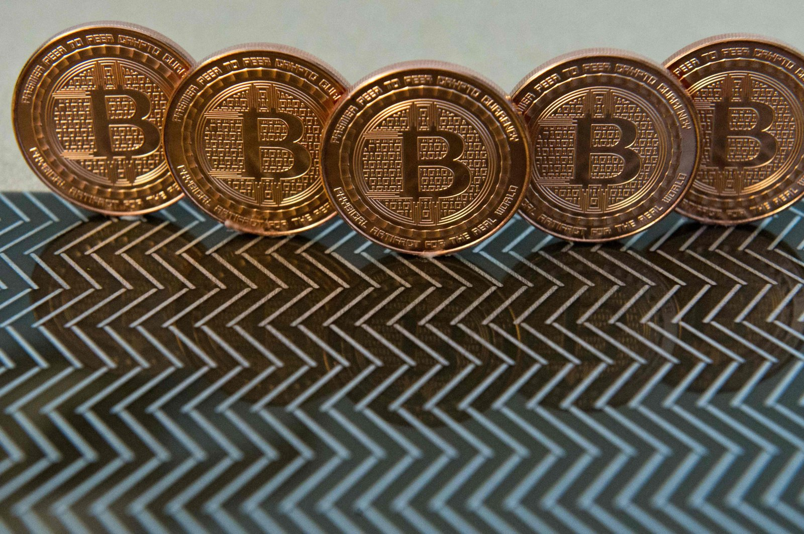 Bitcoin medals are seen in this file photo taken in Washington, D.C., U.S., June 17, 2014. (AFP Photo)