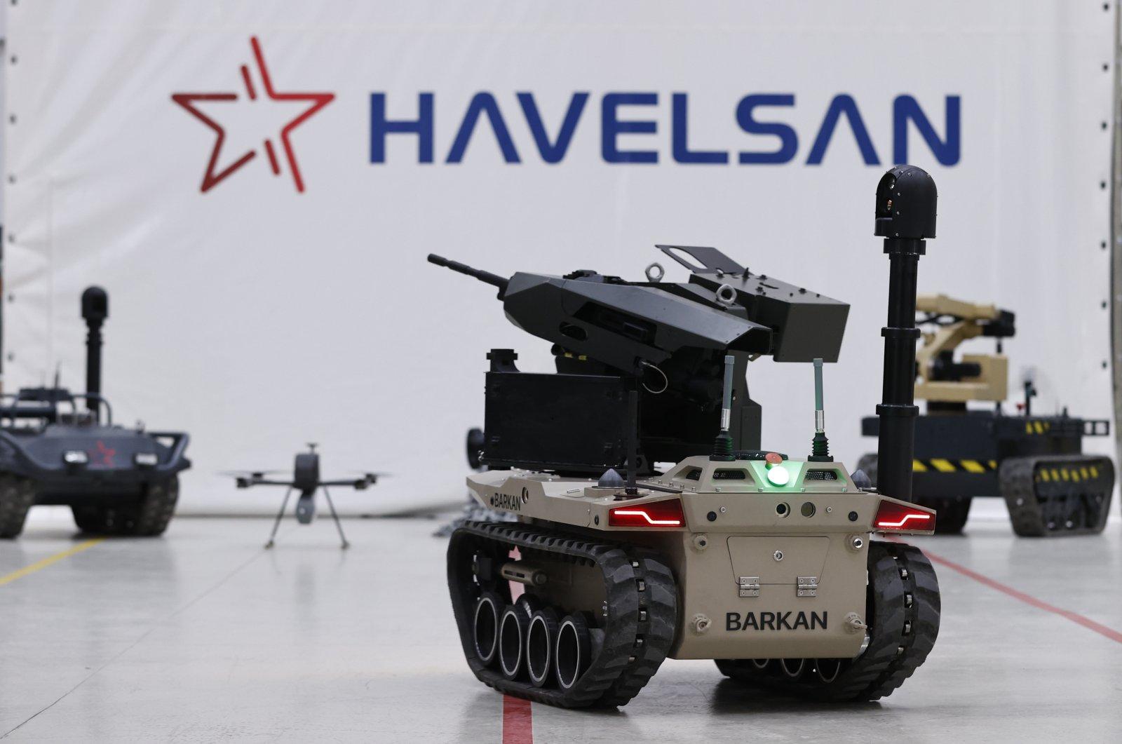 Havelsan's Barkan UGV seen in company facility, Ankara, Turkey, May 23, 2021. (AA Photo)