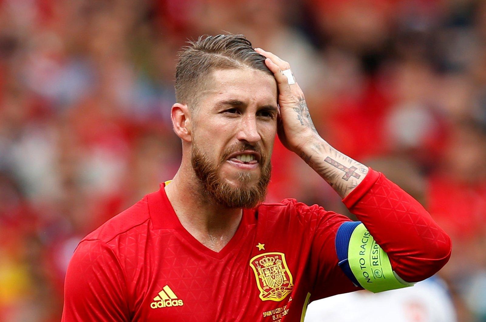 Spain's Sergio Ramos looks dejected during a EURO 2016 Group D match against Czech Republic, Stadium de Toulouse, Toulouse, France, June 13, 2016. (Reuters Photo)