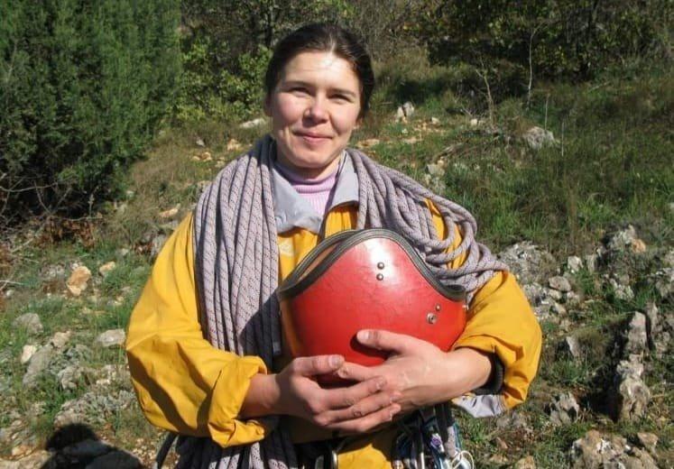 Yana Kryvosheia, the 42-year-old Ukrainian national who went missing three weeks ago while climbing Geyik Sivrisi Mountain in Antalya, Turkey. (IHA Photo)