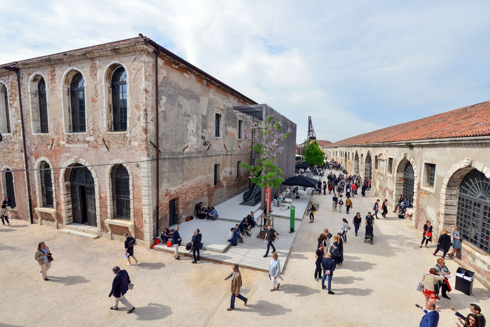 An outside view from Sale d'Armi, Arsenale, where the Pavilion of Turkey takes place. (Courtesy of IKSV)
