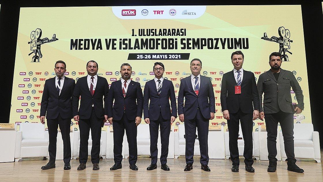 The firstInternational Symposium on Media and Islamophobia, Ankara, Turkey, May 25, 2021. (AA Photo)