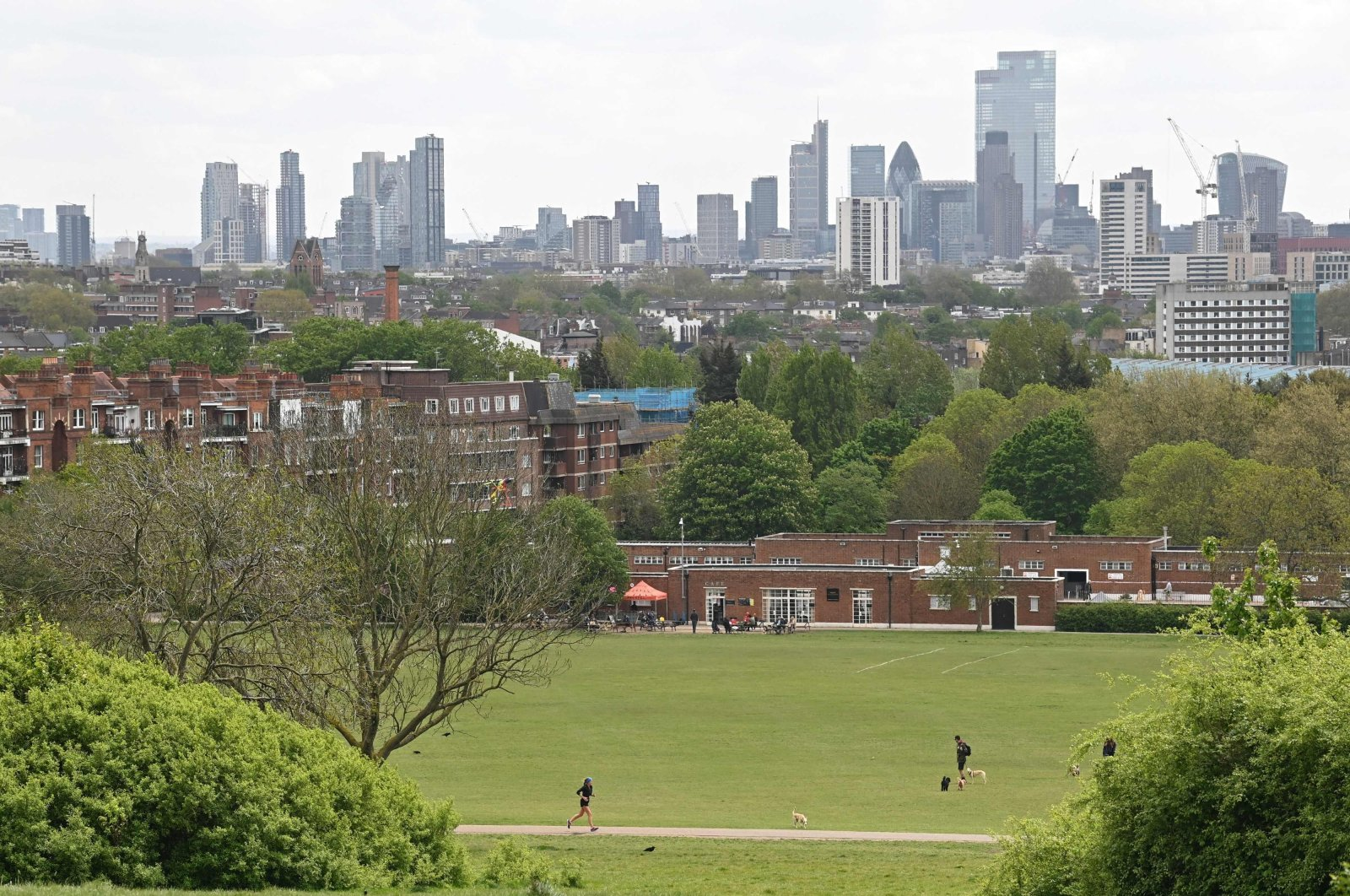 The London skyline is pictured from Hampstead Heath in London, the U.K., May 12, 2021. (AFP Photo)