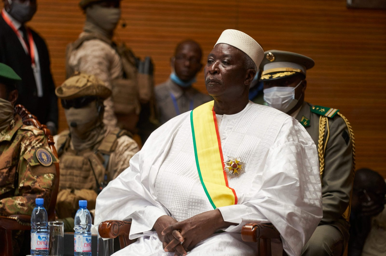 In this file photo, Mali's interim President Bah Ndaw is seen during his inauguration ceremony at the CICB (Centre International de Conferences de Bamako) in Bamako, Mali, Sept. 25, 2020. (AFP Photo)