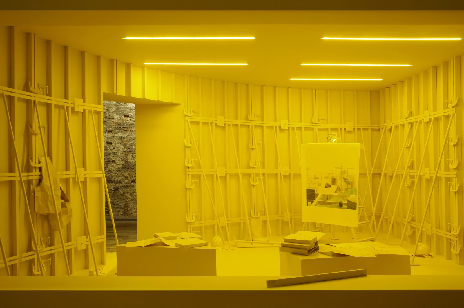 """A view from """"Four Dioramas"""" from """"Architecture as Measure"""" at the Venice Biennale's 17th International Architecture Exhibition. (Courtesy of IKSV)"""