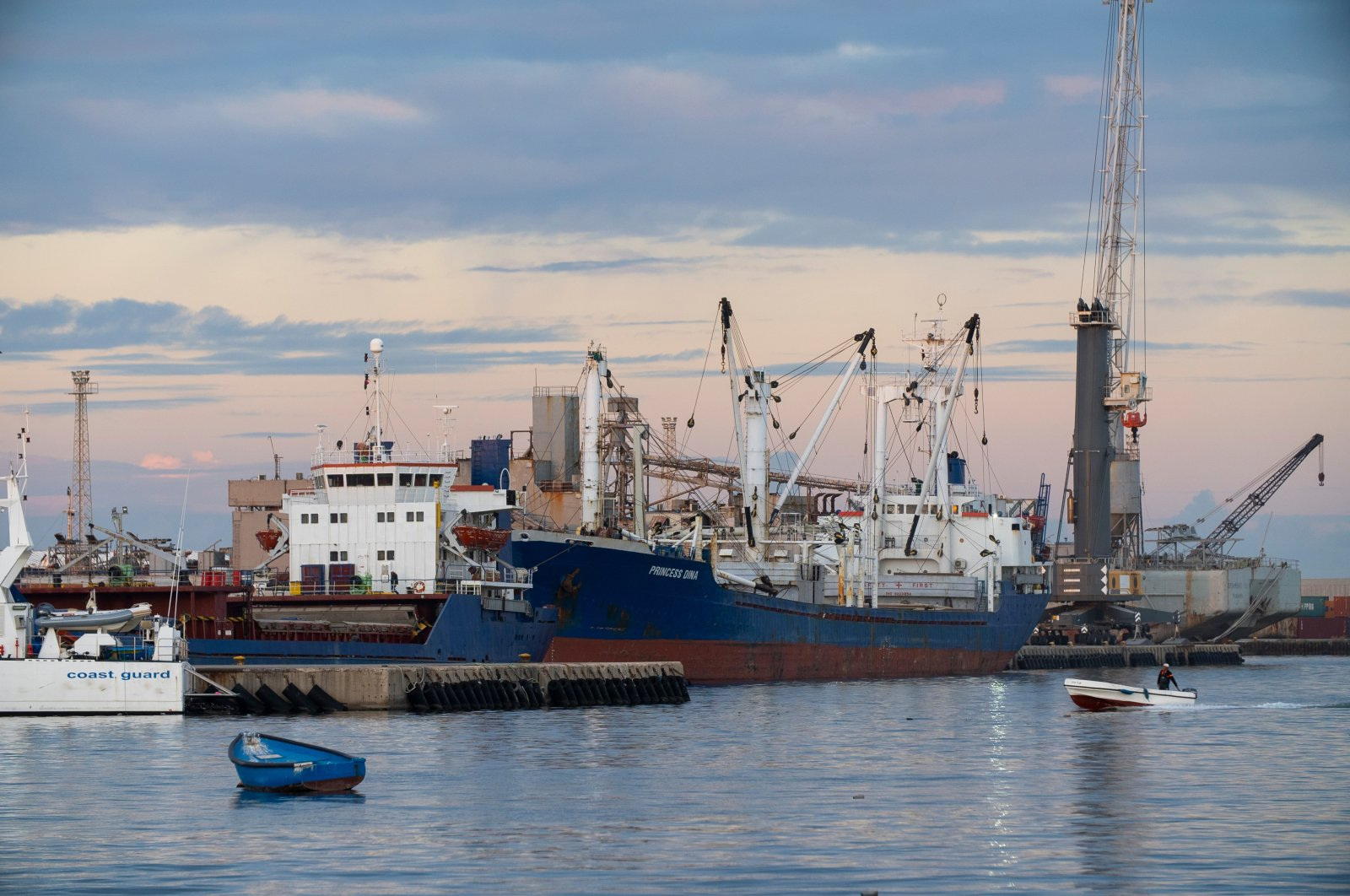 Container ships with loading cranes at the Port of Tripoli, Libya, Nov. 25, 2020. (Shutterstock Photo)