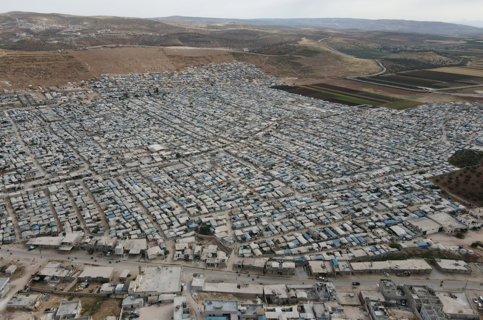 A general view shows al-Karameh camp for internally displaced Syrians, in Idlib, Syria, May 21, 2021. (Reuters Photo)