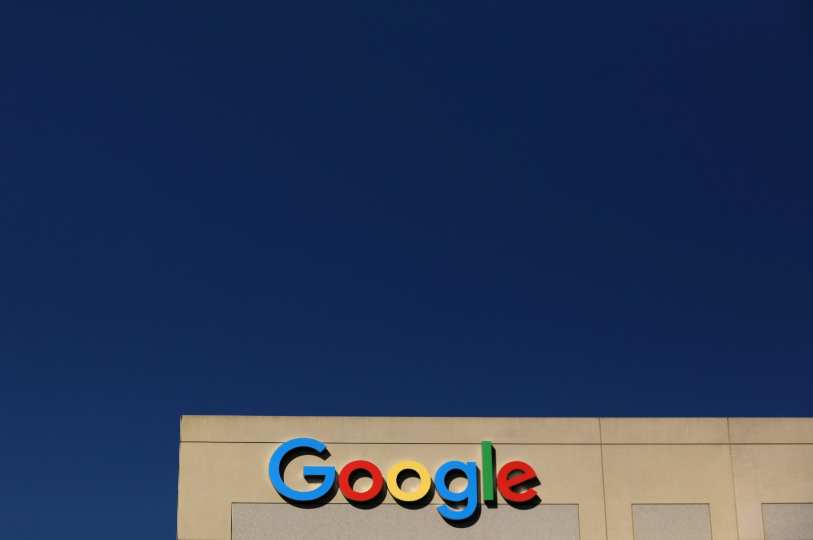 The Google logo is pictured atop an office building in Irvine, California, U.S., Aug. 7, 2017. (Reuters Photo)