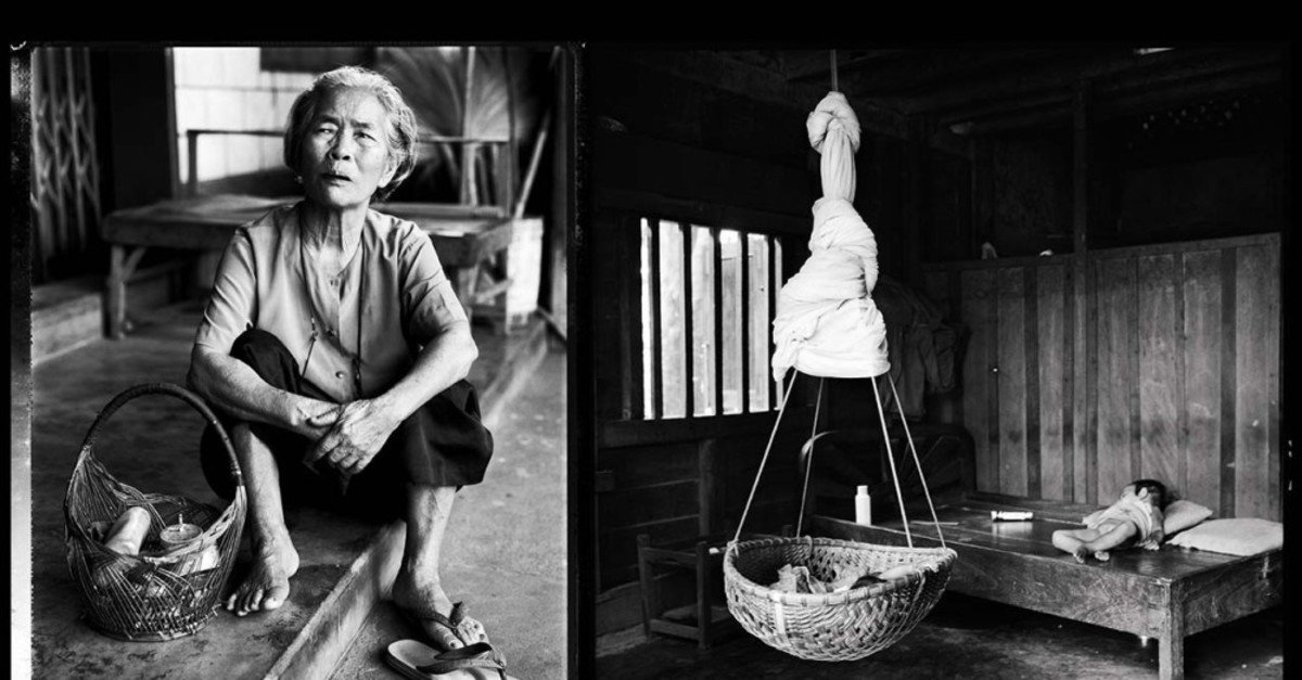 A photo by Lam Duc Hien from his 'Mere, Meres' exhibition. (Courtesy of Institut français)