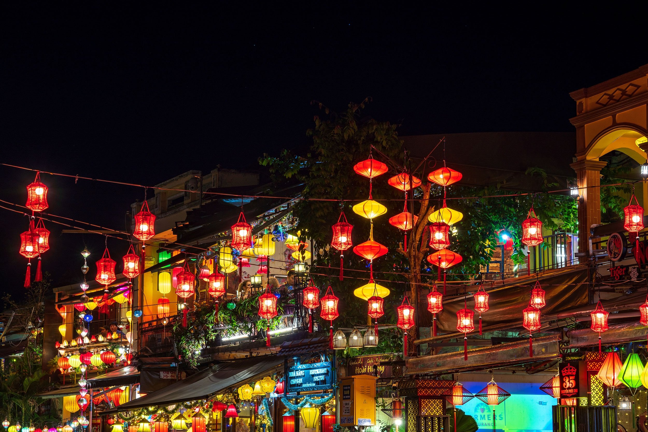 Colorful lanterns light the nightscape of the Old Town part of Hoi An, Vietnam.(Shutterstock Photo)