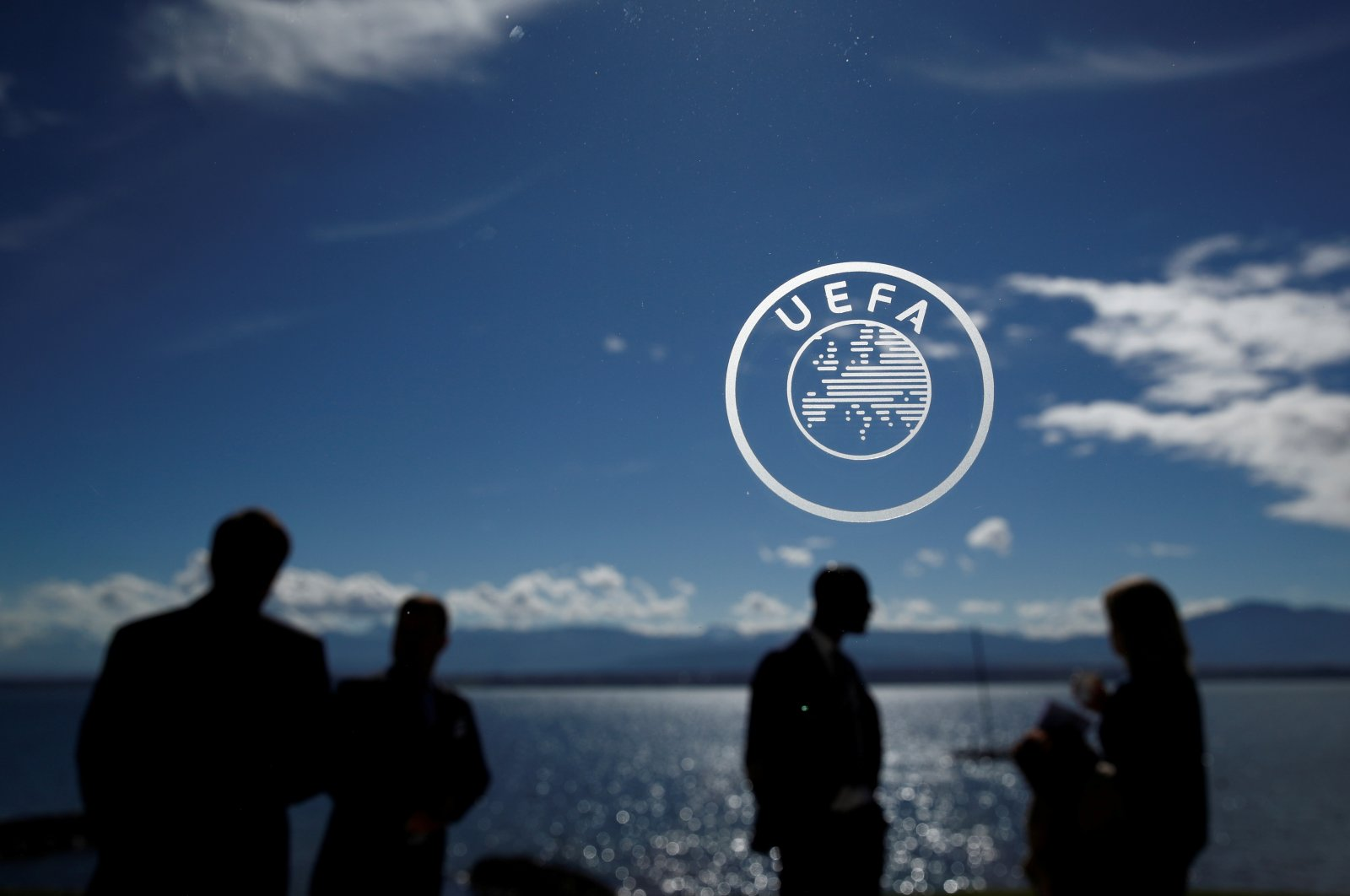 The UEFA logo is seen at its headquarters in Nyon, Switzerland, April 13, 2018. (Reuters Photo)