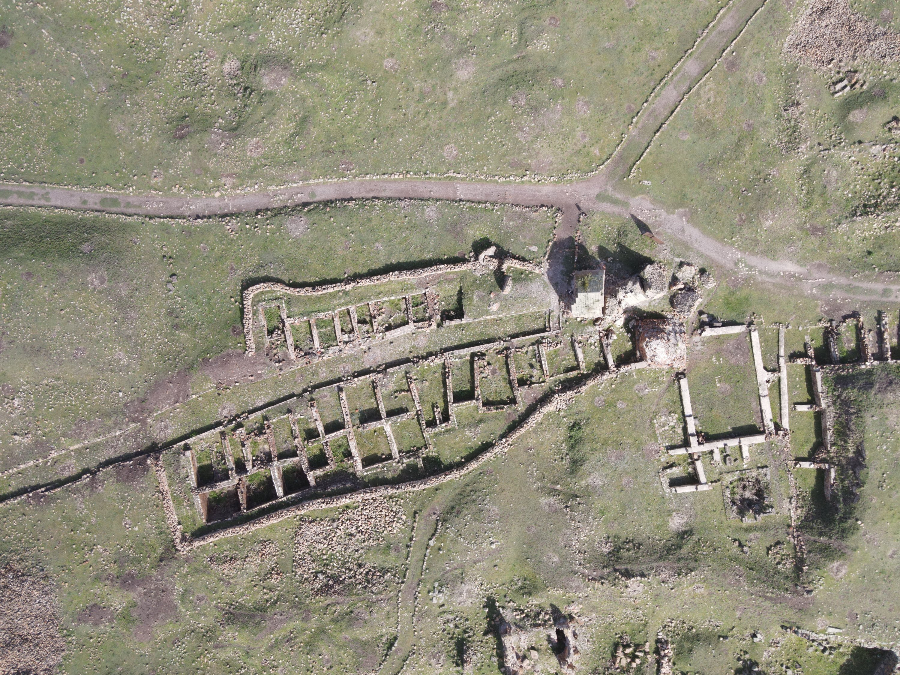 An aerial view from the Ani ruins, Kars, eastern Turkey, May 26, 2021. (AA Photo)