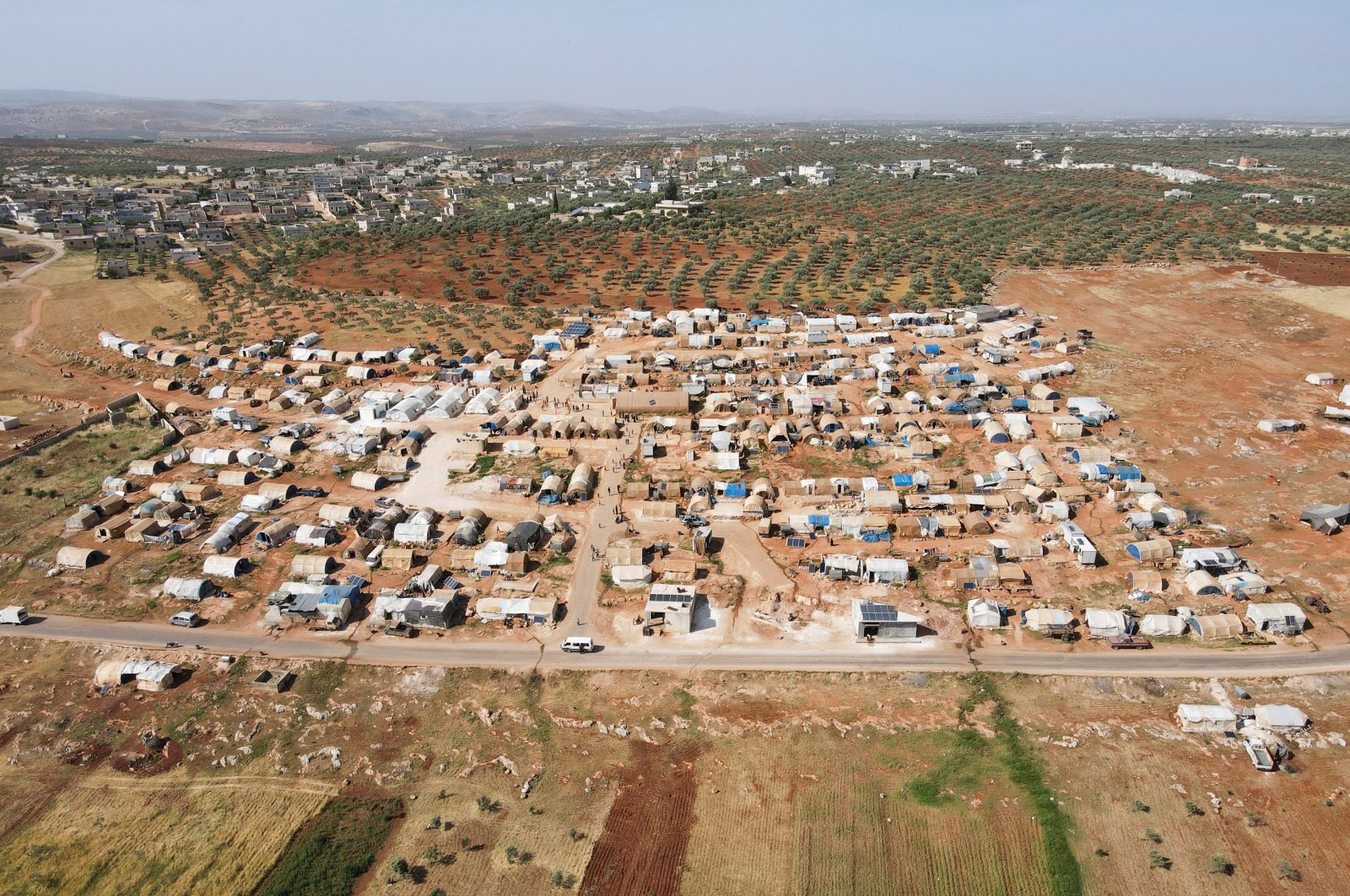 A general view shows Teh camp for internally displaced Syrians in northern Idlib, Syria, May 5, 2021. (Reuters Photo)