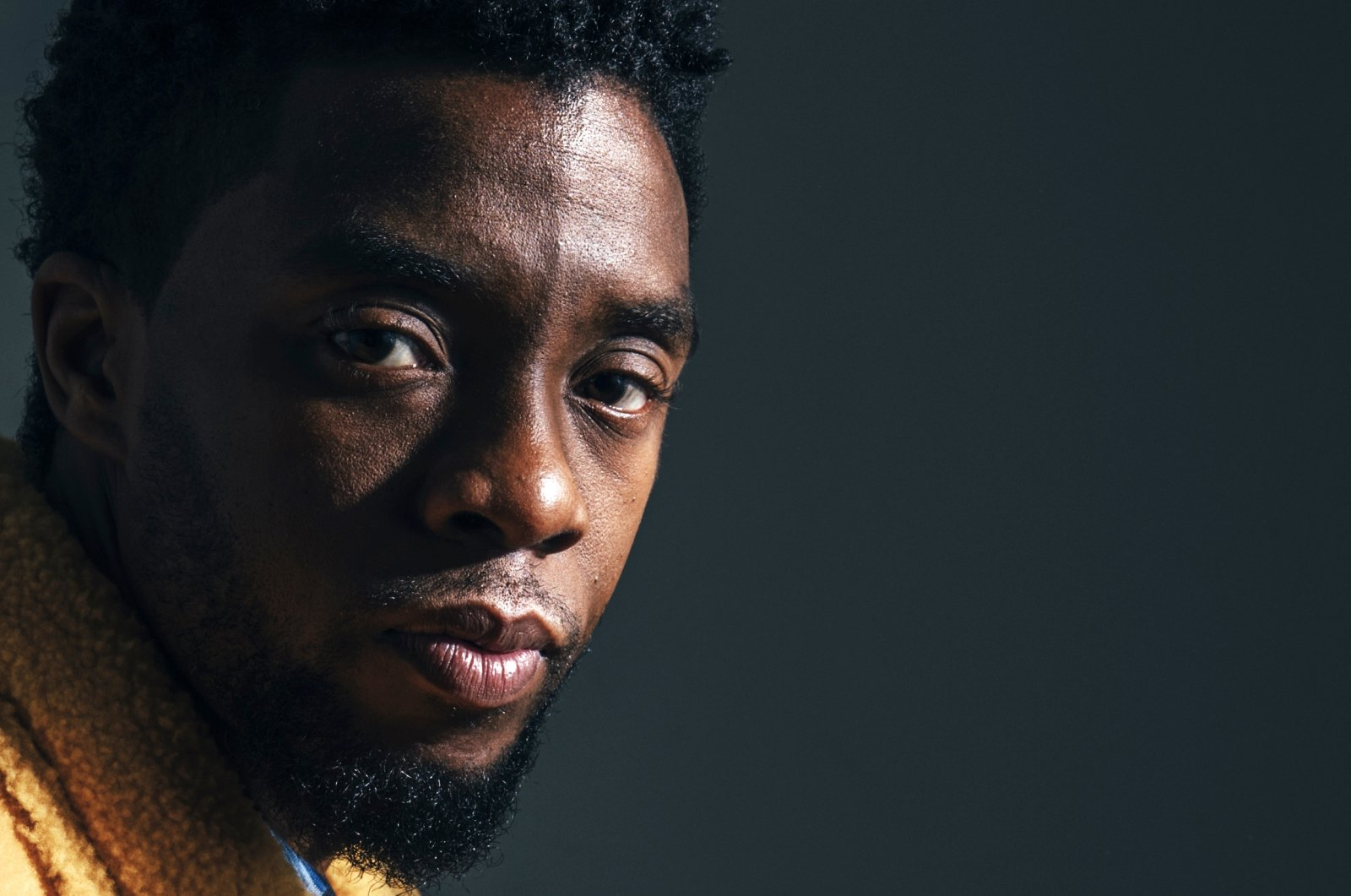 """Actor Chadwick Boseman poses for a portrait in New York to promote his film, """"Black Panther,"""" U.S., Feb. 14, 2018. (AP Photo)"""