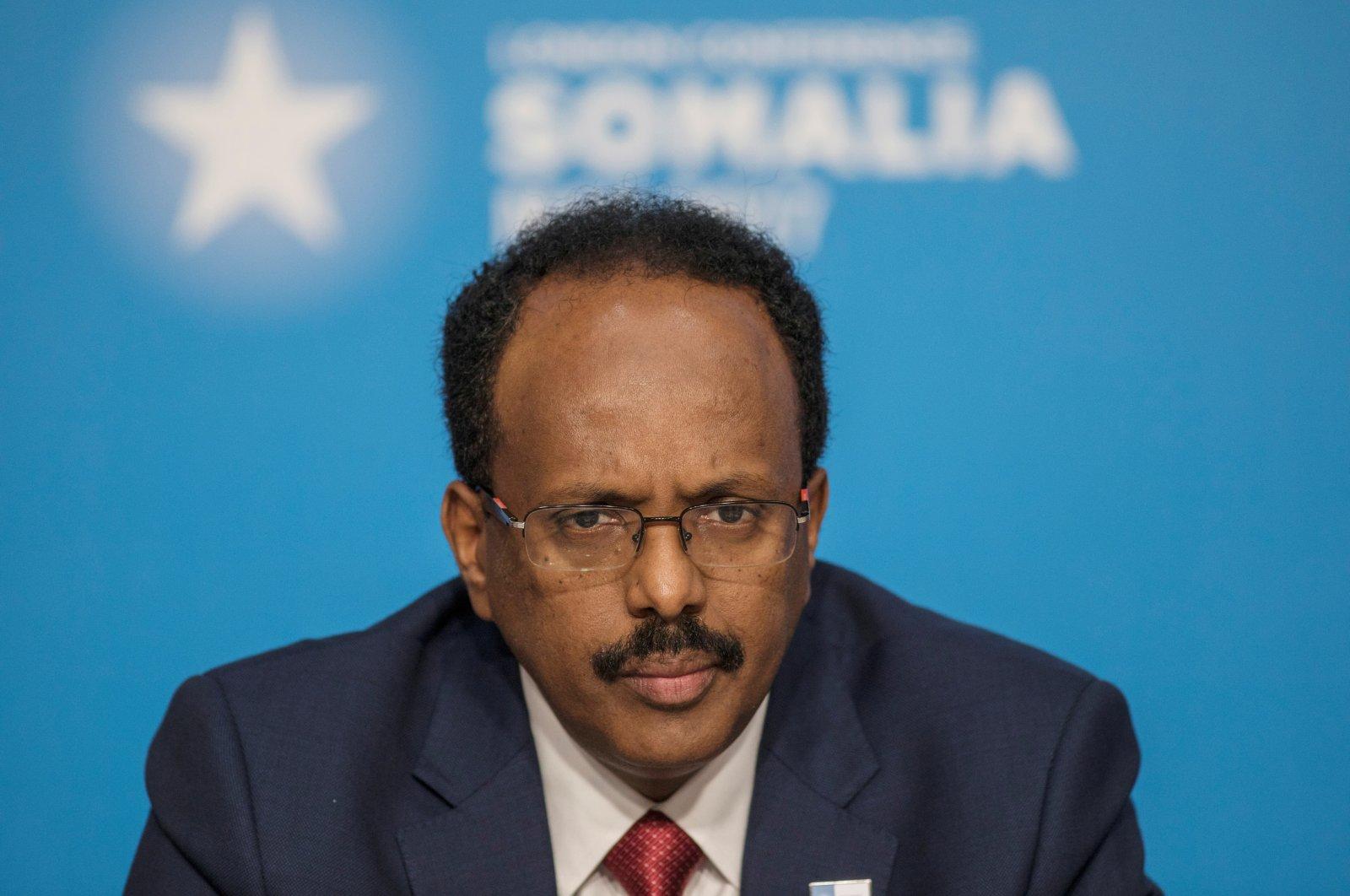 Mohamed Abdullahi Mohamed, President of Somalia, attends the London Somalia Conference' at Lancaster House, U.K. on May 11, 2017. (REUTERS Photo)