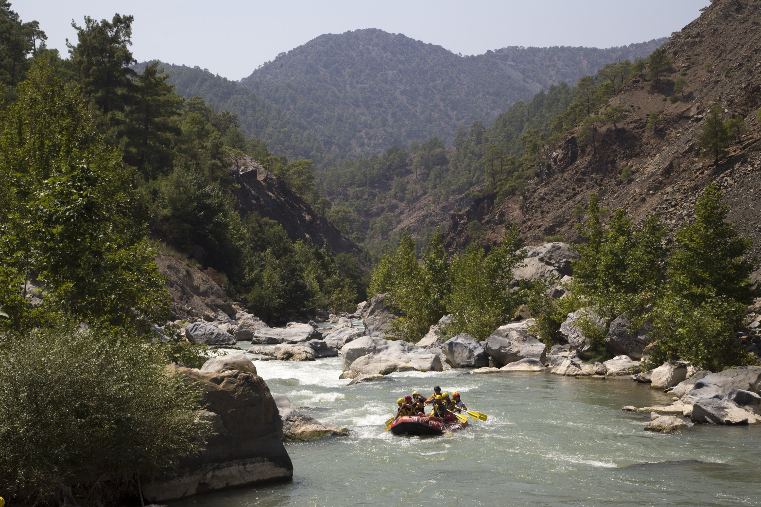 The Dalaman River is another destination in Fethiye for extreme sports lovers. (Shutterstock Photo)