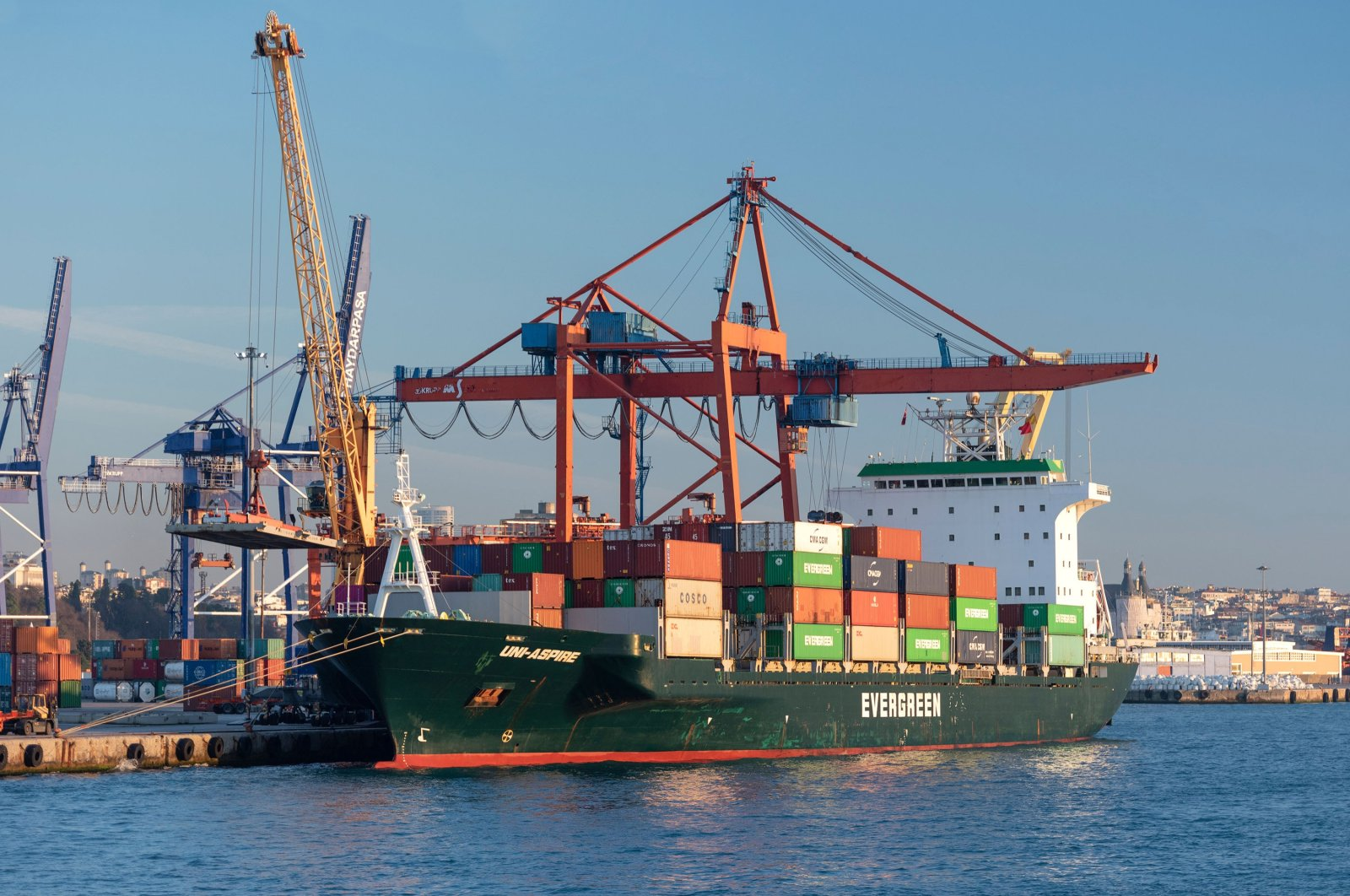 A container ship is seen at Haydarpaşa Port in Istanbul, Turkey, Jan. 5, 2020. (Shutterstock Photo)