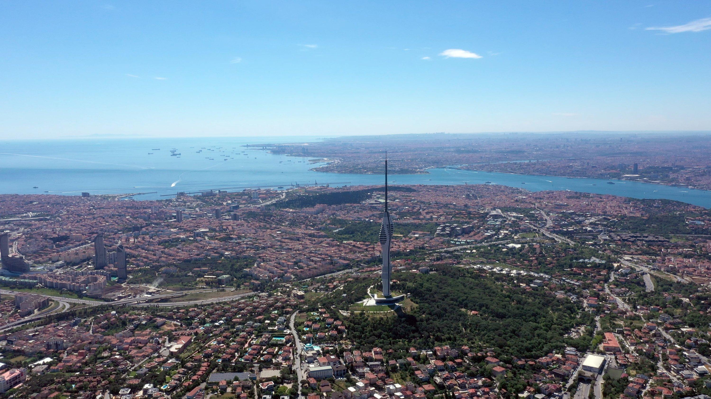 Çamlıca Tower stands tall in Üsküdar district, Istanbul, Turkey, May 29, 2021.