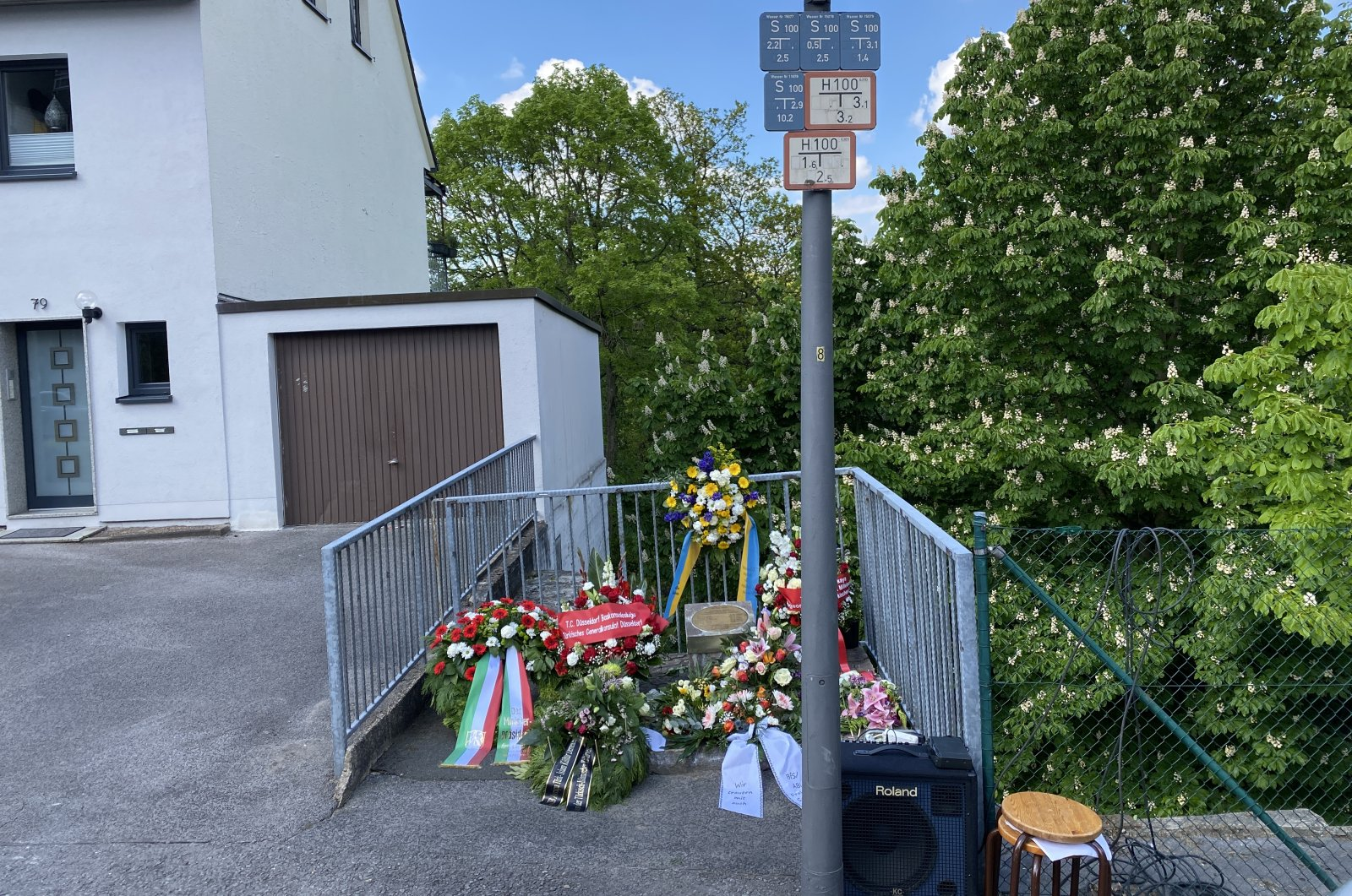 A commemoration ceremony was held for the anniversary of the Solingen attack, Germany, May 29, 2021. (AA Photo)