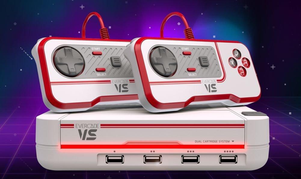The upcoming Evercade VS home console. (Photo courtesy of Blaze Entertainment)