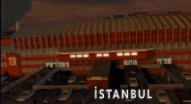 The FIFA 99 cutscene showing Galatasaray's legendary home pitch Ali Sami Yen. (Screengrab)