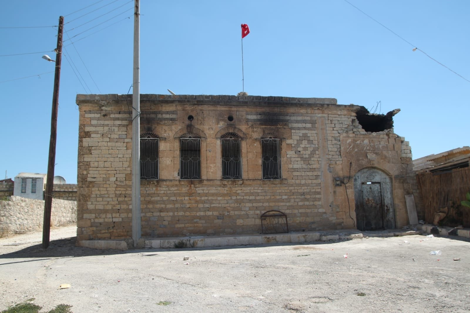 The house used by Atatürk as a military headquarters during the Battle of Katma (Charge at Haritan) in Afrin, Syria, May 31, 2021. (DHA Photo)